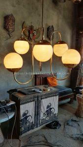 Lampu Gantung Kuningan Minimalis