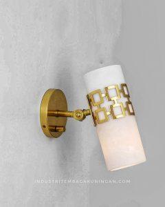 Lampu Dinding Minimalis Kuningan